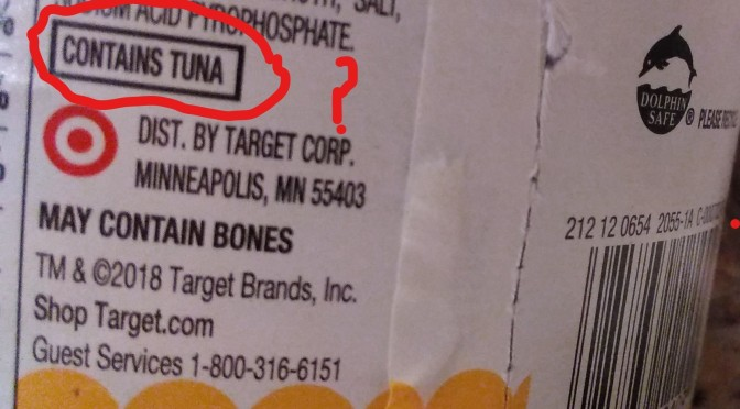 CONTAINS TUNA???