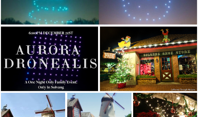Holiday Light Display… Flying High In Solvang, California