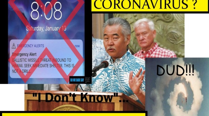 HAWAII's Governor IGE, ALWAYS PASSING THE PADDLE TO SOMEONE ELSE…