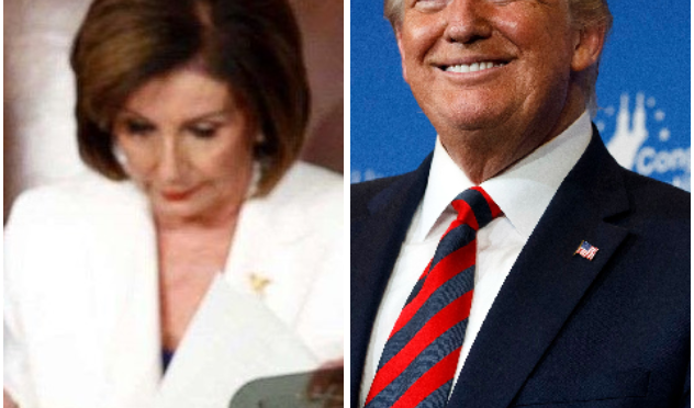 BREAKING NEWS: PRESIDENT TRUMP HAS STEPPED DOWN AND SURRENDERED THE OVAL OFFICE TO SPEAKER OF THE HOUSE NANCY PELOSI